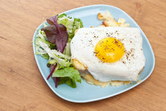 Serving of Croque Madame Stock Photography