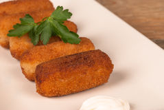 Serving of croquettes Stock Images