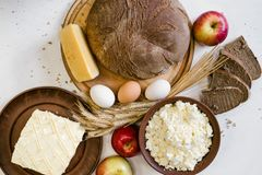 Background of countryside dairy farming food Royalty Free Stock Photo
