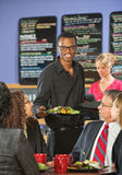 Serving Customers Food stock image