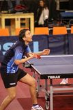 Serving Dima Prokopcov - table tennis Royalty Free Stock Photography