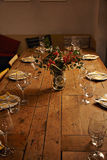Serving dinner table set Royalty Free Stock Image