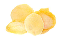 Serving of dried sliced peach slices. Stock Images