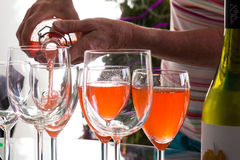 Serving Drinks Royalty Free Stock Photography