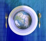 Serving the Earth in a jelly Stock Photography