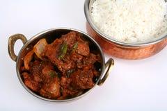serving för curry för nötköttbunkechili Fotografering för Bildbyråer