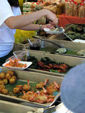 Serving fish @ Thai festival Stock Image