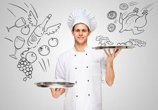 Serving food. Stock Image