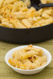 Serving of four cheese rigatoni bake Stock Photography