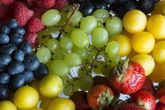 A Serving of Fresh Summer Fruits. A Serving of a Variety of Colourful, Fresh Summer Fruits in Germany, Europe Royalty Free Stock Images