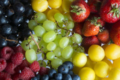 A Serving of Fresh Summer Fruits. A Serving of a Variety of Colourful, Fresh Summer Fruits in Germany, Europe Royalty Free Stock Photo