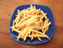 Serving of fries. Calories chip diner Royalty Free Stock Photo