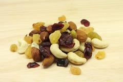 Serving of fruit nut mixture  texture Stock Photo