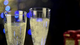 Serving glasses of champagne stock video footage