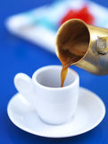 Serving greek coffee Royalty Free Stock Images