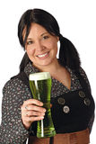 Serving the green beer royalty free stock photography