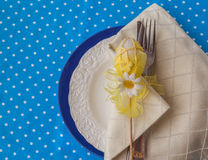 Serving guests place for Easter Royalty Free Stock Photo