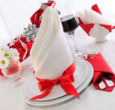 Serving holiday table Stock Photos