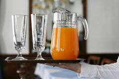 Serving juice Stock Images