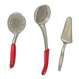 Serving ladles Stock Photography