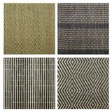 Serving mat texture. As abstract background composition, top view above, set of four versions royalty free stock photos