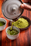 Serving matcha tea Stock Images