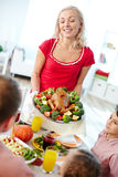 Serving meals Royalty Free Stock Images