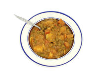 Serving of mixed vegetable in curry sauce Royalty Free Stock Photography