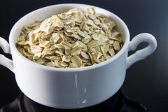 Serving of oatmeal Royalty Free Stock Photography