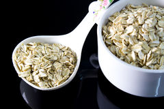 Serving of oatmeal Stock Images