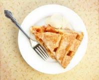 Serving Of Apple Pie With Ice Cream Stock Image