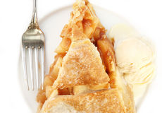Serving Of Apple Pie With Ice Cream Royalty Free Stock Photo