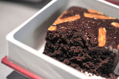 Serving Of Chocolate Cake Stock Image