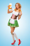 Serving at Oktoberfest. Royalty Free Stock Photos