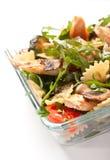 Serving of pasta  salad Royalty Free Stock Photos