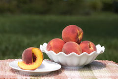 Serving Peaches Stock Photos