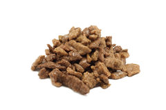 Serving of pet food Royalty Free Stock Images
