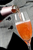 Serving Pink Champagne Stock Photos