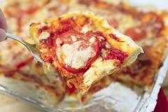 Serving pizza horizontal Royalty Free Stock Image