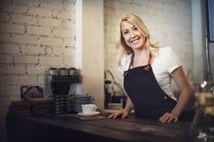 Serving Service Staff Customer Service Cafe Concept Stock Image