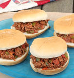 Serving Sloppy Joes Stock Photos