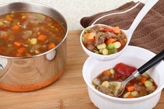 Serving Soup Stock Photography