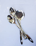 Serving spoons for buffet Royalty Free Stock Photography
