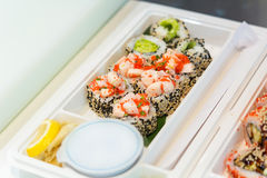 Serving sushi Royalty Free Stock Images