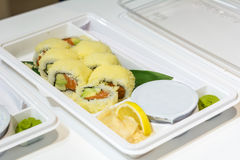 Serving sushi Stock Images