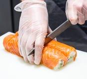 Serving sushi Stock Image