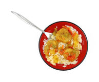 Serving of sweet and sour chicken Royalty Free Stock Images