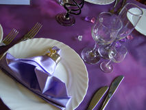 The serving of table. Table is served to event Royalty Free Stock Photography