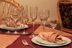 Serving of table. Royalty Free Stock Photo