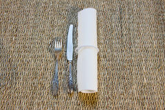 Serving of table from a napkin Royalty Free Stock Photos